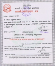 Company Registration Certificate  » Click to zoom ->