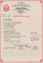 License from the Nepal Tourism Board  » Click to zoom ->