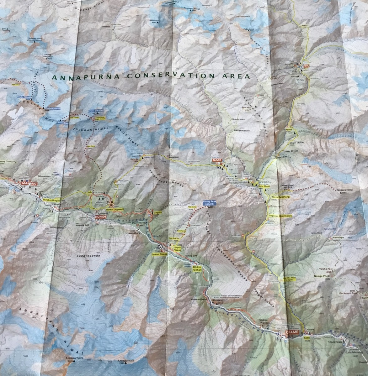 Nar Phu Trek $1,345/- Map