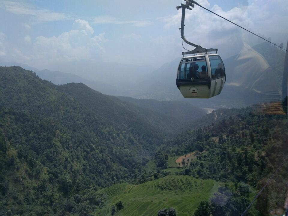Everest View by cable car