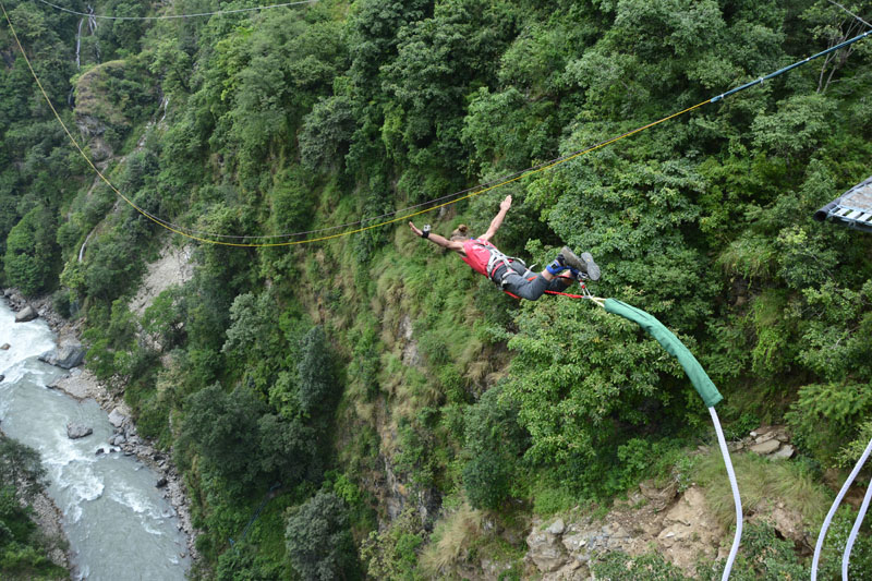 Bungy Jumping $250/-